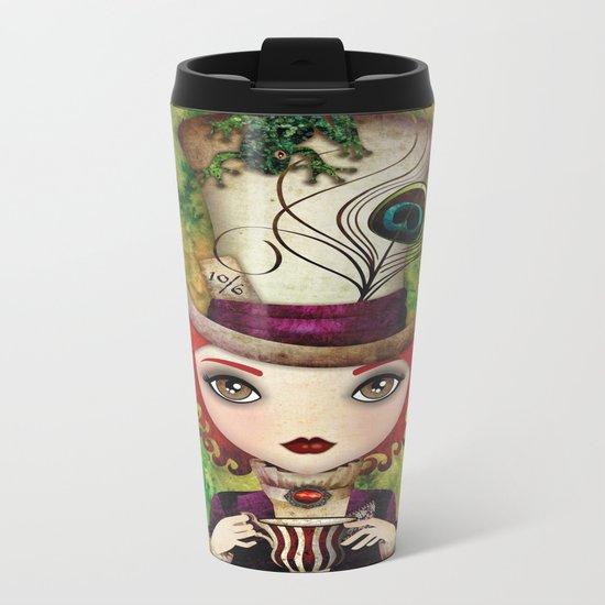 Lady Hatter Metal Travel Mug