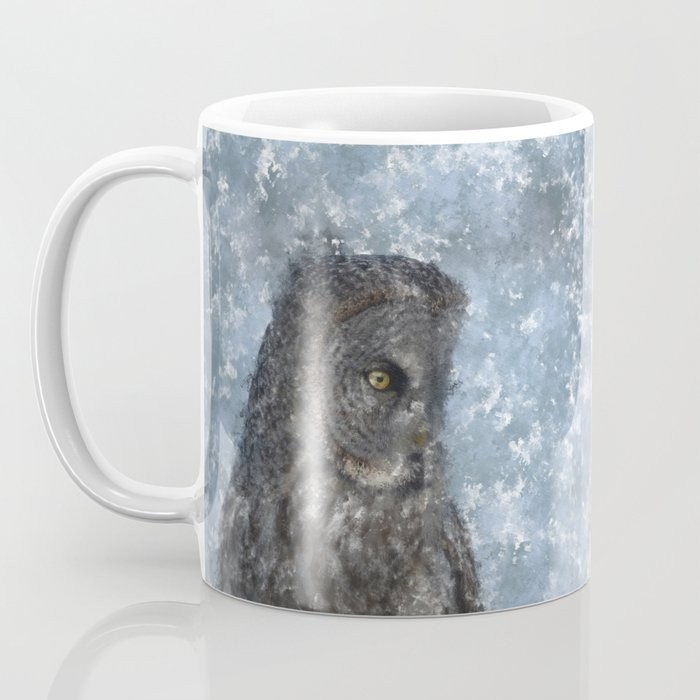 Contemplation - Great Grey Owl Portrait Coffee Mug