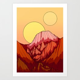 The Mountains of the red planet Art Print