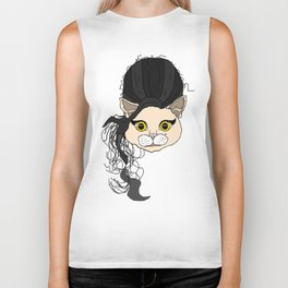 Amy Cat Head Biker Tank