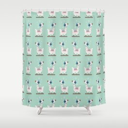 Cool llamas Shower Curtain