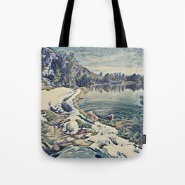 Mountain Lake Trail, California Tote Bag