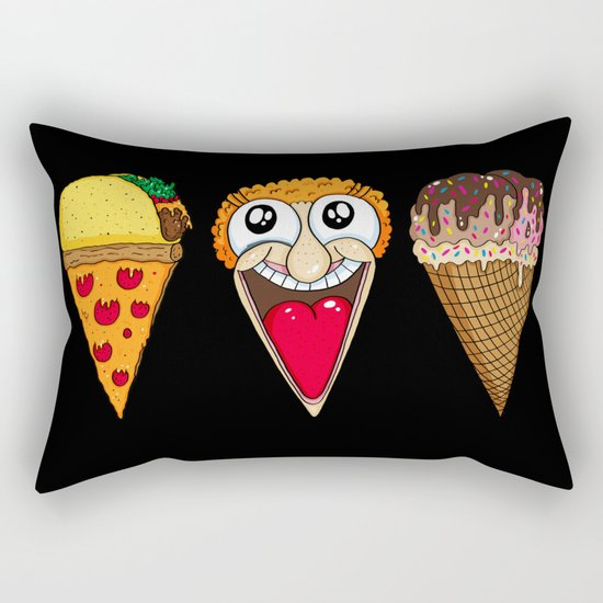 Taco Pizza Cone Rectangular Pillow