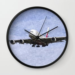 Emirates A380 Airbus Oil Wall Clock