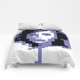 8 Bit Portrait of a Girl Comforters
