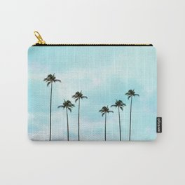 Palm Tree Photography | Turquoise Sky Carry-All Pouch
