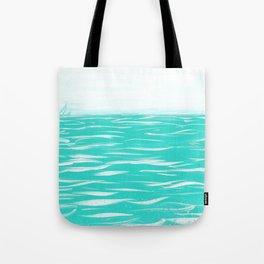 Sailing Across A Turquoise Sea Tote Bag