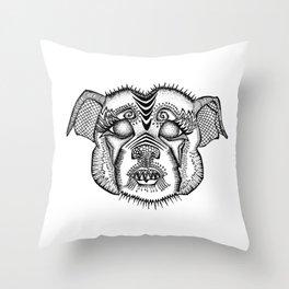 Staffie #1 Throw Pillow