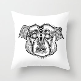 Staffie #1 Throw Pillow
