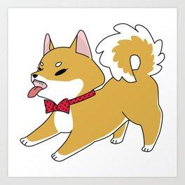 Vicious Doggo Polka Dot Art Print