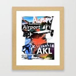 AKL Auckland airport code scribble  Framed Art Print