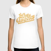 los angeles T-shirts featuring Los Angeles by GetSolidGold