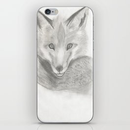 Red fox iPhone Skin