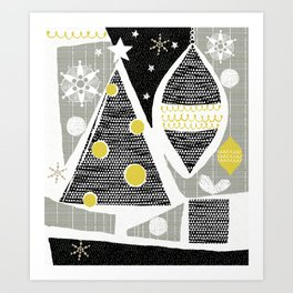 achromatic holidays Art Print