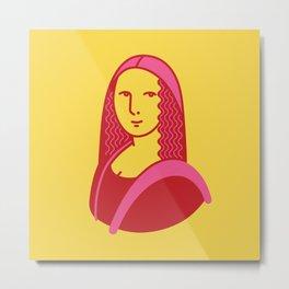 Mona Lisa Pop Art Metal Print