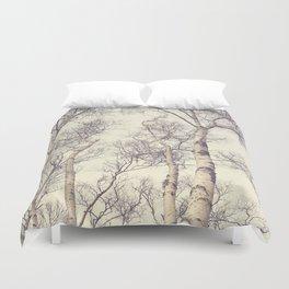 Winter Birch Trees Duvet Cover