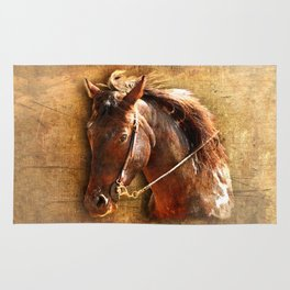 Portrait of a Working Horse Rug