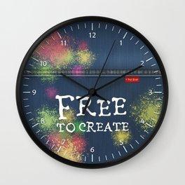 Denim Jeans - Free To Create Wall Clock