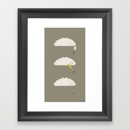 Cloud High Five Framed Art Print