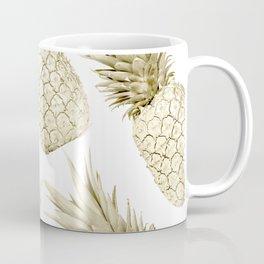 Gold Pineapple Bling Coffee Mug
