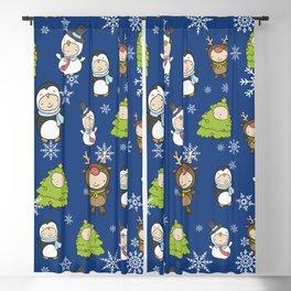 Children Christmas Costumes Pattern 2 Blackout Curtain
