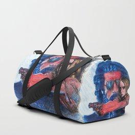 'Rush' film poster - Drawing in colour pencil Duffle Bag
