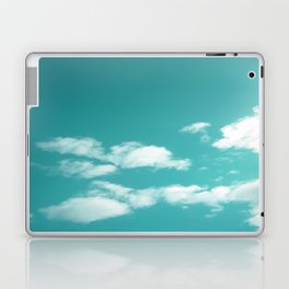 Teal kissed sky. Laptop & iPad Skin