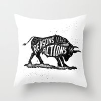 lettering Throw Pillows featuring Lettering by Iriskana