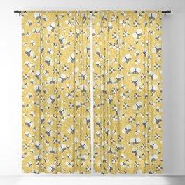 Crisscross Butterflies V.02 - Honey Color Sheer Curtain