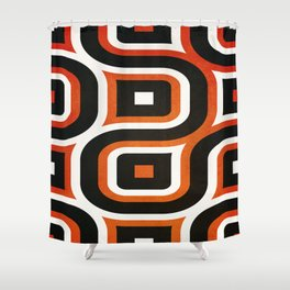 Pattern Brown Shower Curtain