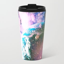 Space Earth Watercolor Travel Mug