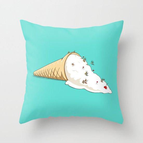 Ant Ski Throw Pillow