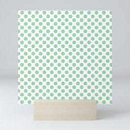 Small Mint Green Polka Dots Mini Art Print