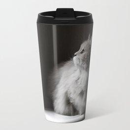 Siberian cat. Yet another rainy day. Travel Mug