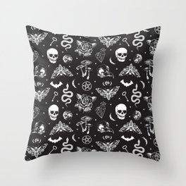Witchcraft B&W Throw Pillow