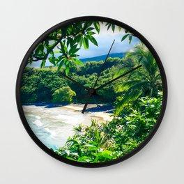 Hamoa Beach Hana Maui Hawaii Wall Clock