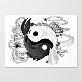 Tai Chi Fish Canvas Print