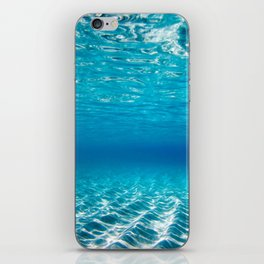 Aqua Blue Bliss iPhone Skin