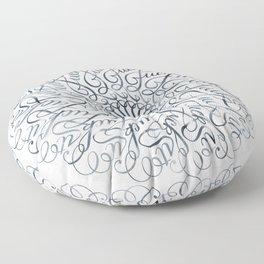Mandala • Fuck it • grey Floor Pillow