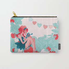 Strawberry girl Carry-All Pouch