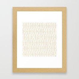 Geometric order Framed Art Print