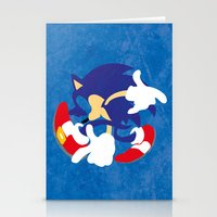sonic Stationery Cards featuring Sonic by JHTY