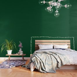 UP Forest green - solid color Wallpaper