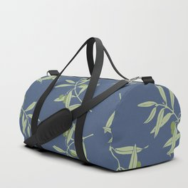 Olive Branch pattern Design - blue Duffle Bag