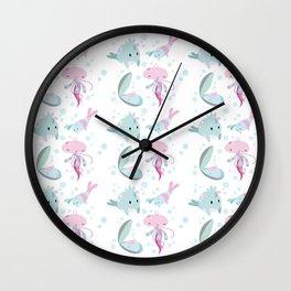 Little sea friends Wall Clock