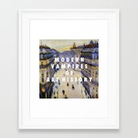 modern vampires of art history Framed Art Prints featuring Modern Vampires by Modern Vampires of Art History