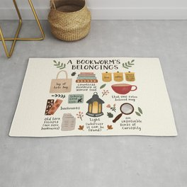 A Bookworm's Belongings Rug