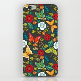 The Butterfly Garden - Charcoal iPhone Skin