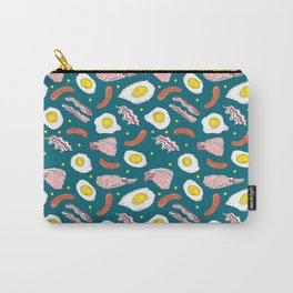 Bacon Eggs Sausages Breakfast Kitchen Food Pattern Carry-All Pouch