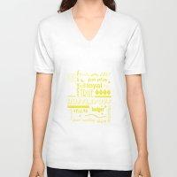 hufflepuff V-neck T-shirts featuring Hufflepuff by husavendaczek
